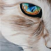 Картины и панно ручной работы. Ярмарка Мастеров - ручная работа (50 х 70 см) Рыжий зверь (картина). Handmade.
