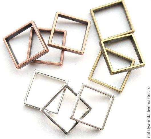 Для украшений ручной работы. Ярмарка Мастеров - ручная работа. Купить Рамка для бусин квадрат (2 цвета). Handmade.