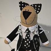 """Куклы и игрушки ручной работы. Ярмарка Мастеров - ручная работа Кот """"Гороховый джентльмен"""". Handmade."""