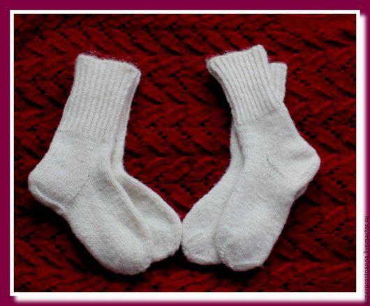 Носки, Чулки ручной работы. Ярмарка Мастеров - ручная работа. Купить носки женские шерстяные. Handmade. Белый