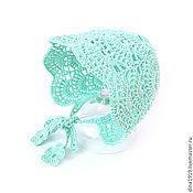 Работы для детей, handmade. Livemaster - original item knitted hat newborn cap beanie girl`s mint. Handmade.