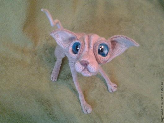 """Игрушки животные, ручной работы. Ярмарка Мастеров - ручная работа. Купить """"вязанный Сфинкс"""". Handmade. Бежевый, любителям кошек"""