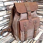 Сумки и аксессуары handmade. Livemaster - original item Backpacks: Urban leather backpack URAL walnut-cognac color. Handmade.