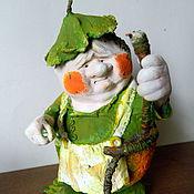 """Куклы и игрушки ручной работы. Ярмарка Мастеров - ручная работа сувенир """"Яблочко и червяк"""". Handmade."""