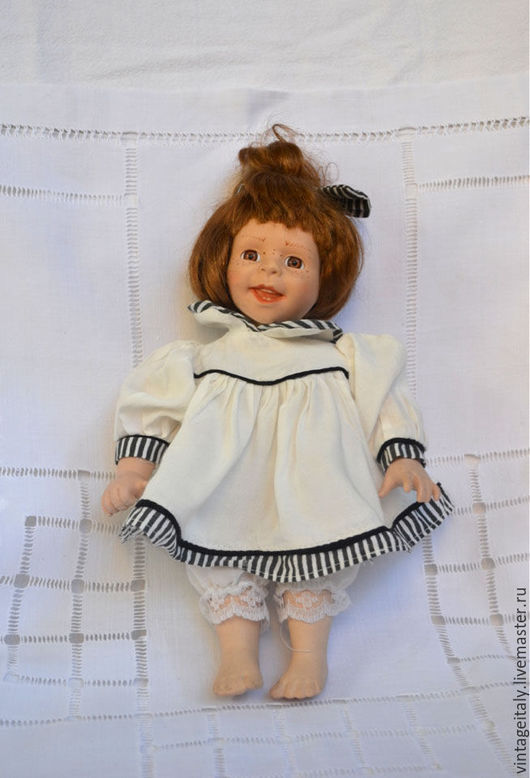 Винтажные куклы и игрушки. Ярмарка Мастеров - ручная работа. Купить Кукла коллекционная фарфоровая. Handmade. Бежевый, кукла фарфоровая, коллекционирование