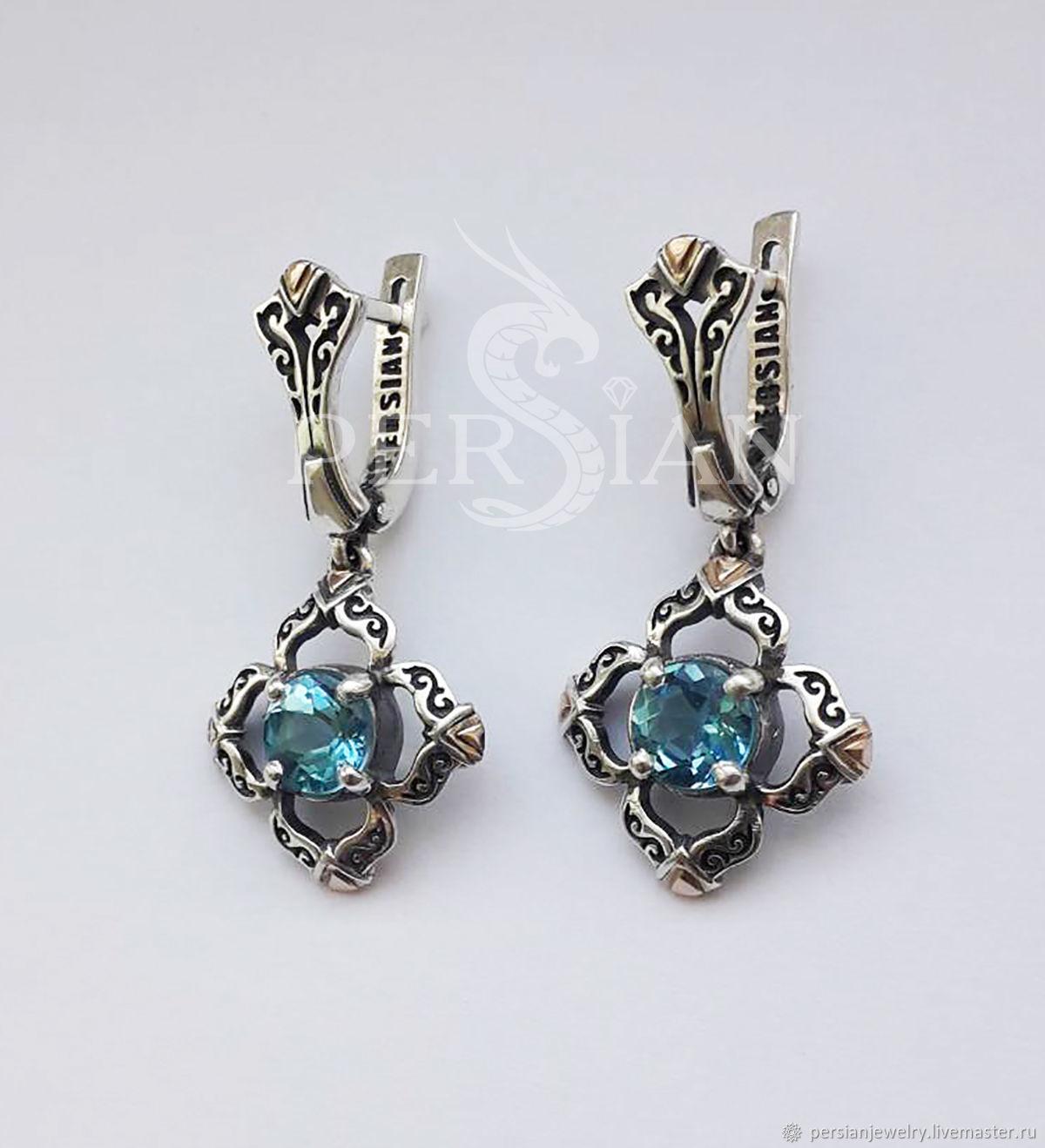 Earring silver with Topaz, Earrings, Sevastopol,  Фото №1