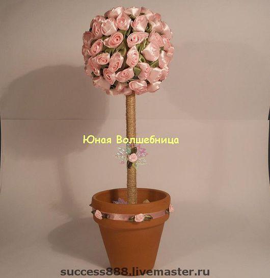 Оригинальный топиарий, цветочное дерево, дерево счастья,  оригинальный подарок девушке, женщине