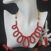 Украшения handmade. Livemaster - original item Stylish Natural Red Coral Necklace. Handmade.