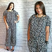 Одежда handmade. Livemaster - original item Summer jumpsuit made of cotton trousers or with shorts on the drawstring free. Handmade.