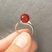 Украшения handmade. Livemaster - original item Silver ring with carnelian. Art.140. Handmade.