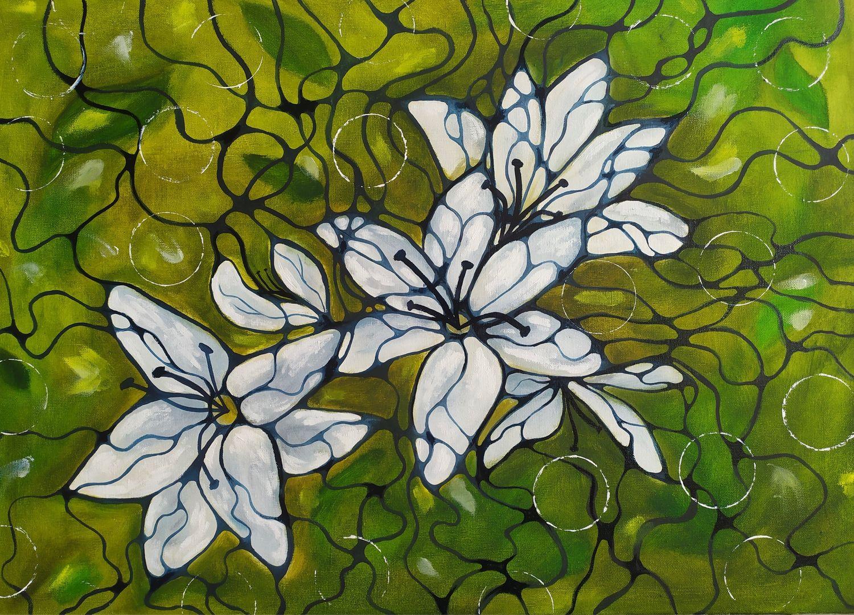 Картина маслом «Лилии» картина цветы, Картины, Москва,  Фото №1