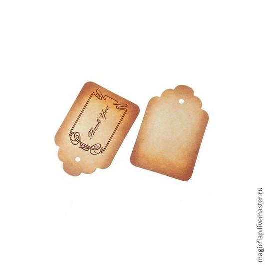 Упаковка ручной работы. Ярмарка Мастеров - ручная работа. Купить Бирки крафт / винтажные теги. Набор из 10 шт. Этикетки с надписью. Handmade.
