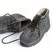 Обувь ручной работы. Ярмарка Мастеров - ручная работа Ботинки из натуральной шерсти.. Handmade.