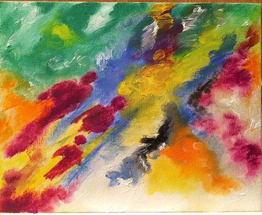Абстракция ручной работы. Ярмарка Мастеров - ручная работа. Купить Души неровные мазки. Handmade. Масло, картина в подарок