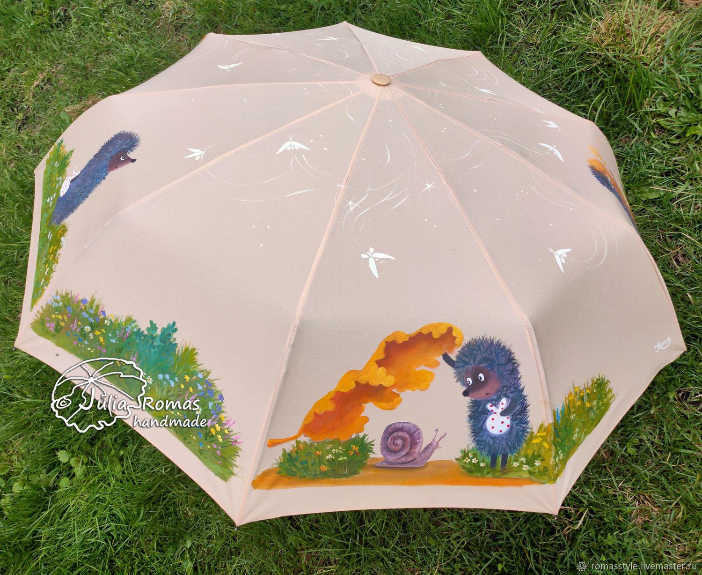Зонт с росписью Ежик в тумане. Четыре ежика, Зонты, Санкт-Петербург,  Фото №1