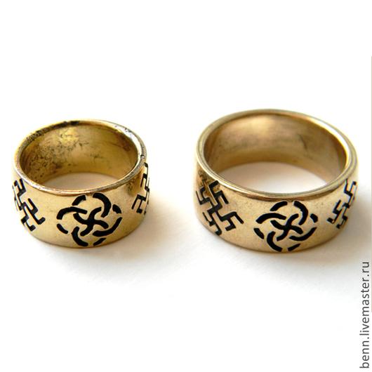 """Кольца ручной работы. Ярмарка Мастеров - ручная работа. Купить Кольцо """"Свадебник"""". Handmade. Амулет, славянский, Языческий, крест"""