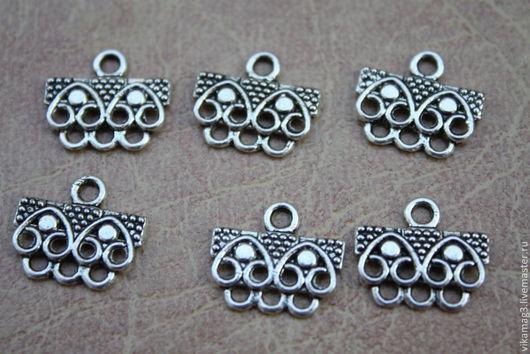 Для украшений ручной работы. Ярмарка Мастеров - ручная работа. Купить Коннектор на 3 нити, цвет серебро. Handmade.