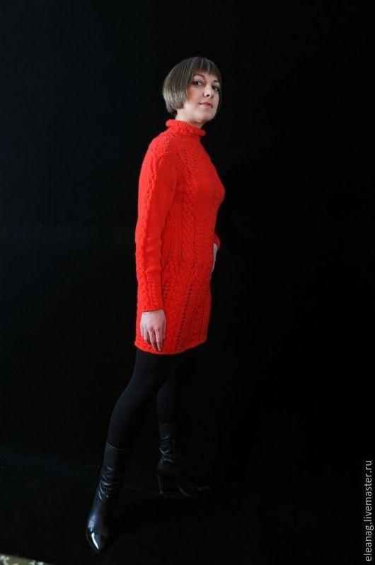 Платья ручной работы. Ярмарка Мастеров - ручная работа. Купить Мини-платье с аранами Amore!.... Handmade. Ярко-красный