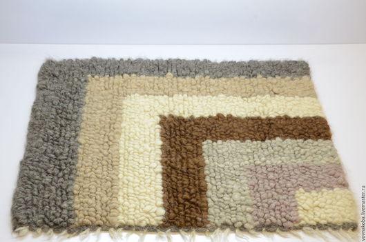 Текстиль, ковры ручной работы. Ярмарка Мастеров - ручная работа. Купить Коврик из овечьей шерсти KB030m. Handmade. коврик