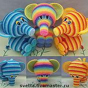 """Мягкие игрушки ручной работы. Ярмарка Мастеров - ручная работа """"Краски неба"""" вязаные слоники. Handmade."""