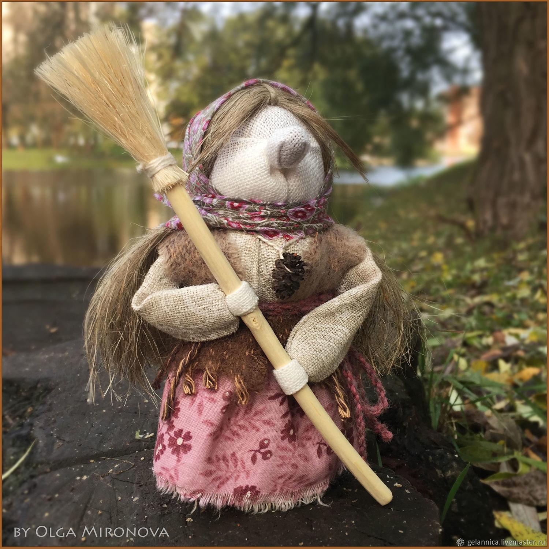 Баба-Яга с помелом!, Народная кукла, Санкт-Петербург,  Фото №1