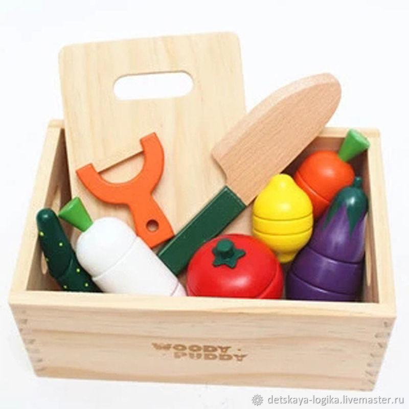 Деревянный игровой набор кухня, Кукольная еда, Старый Оскол,  Фото №1