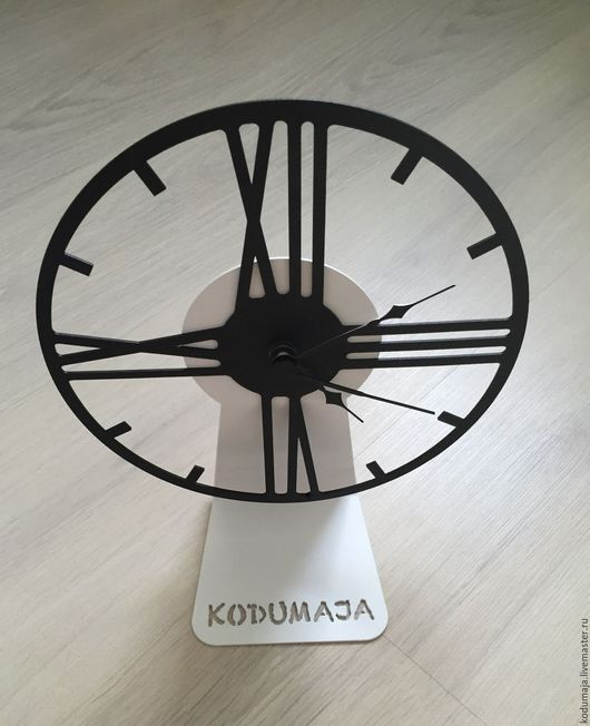 """Часы для дома ручной работы. Ярмарка Мастеров - ручная работа. Купить Часы настольные """"Tabel"""". Handmade. Чёрно-белый, для дома"""