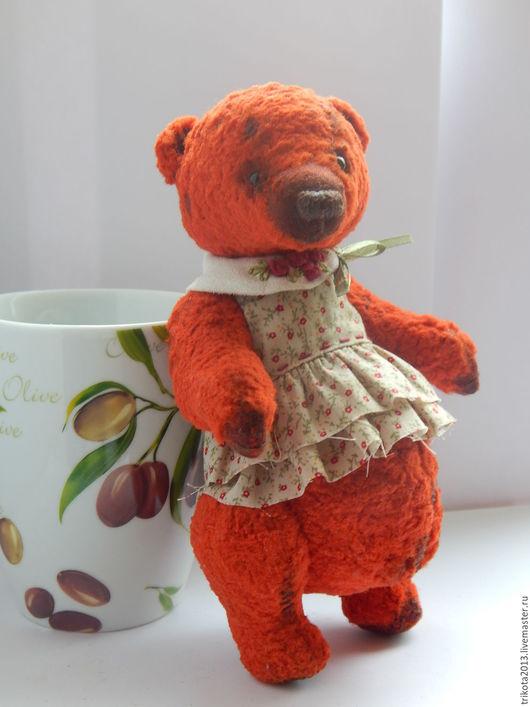Мишки Тедди ручной работы. Ярмарка Мастеров - ручная работа. Купить Мишка Иза. Handmade. Ярко-красный, винтажный плюш