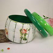 Украшения handmade. Livemaster - original item Bracelets jewelry set-wood Shabby. Handmade.