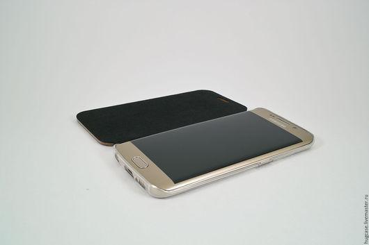 Для телефонов ручной работы. Ярмарка Мастеров - ручная работа. Купить Чехол для Samsung Galaxy S6 Edge Орех. Handmade.