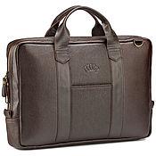 Сумки и аксессуары handmade. Livemaster - original item Leather business bag Dionis (brown). Handmade.