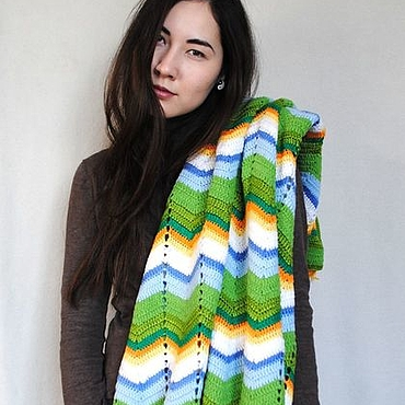 "Для дома и интерьера handmade. Livemaster - original item Plaid ""AWAKENING"" from the Italian merino wool blend. Handmade."