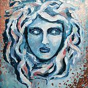 Картины и панно handmade. Livemaster - original item Medusa Gorgon oil painting. Handmade.