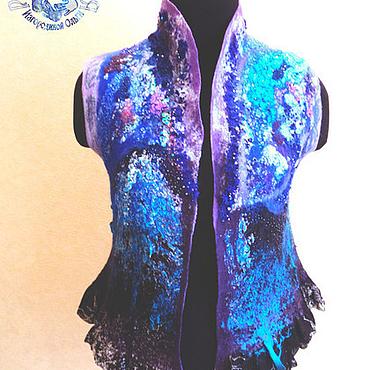 """Одежда ручной работы. Ярмарка Мастеров - ручная работа Жилетка """" Синий лес"""". Handmade."""
