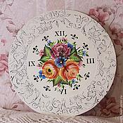 Для дома и интерьера handmade. Livemaster - original item Wall clock with painted