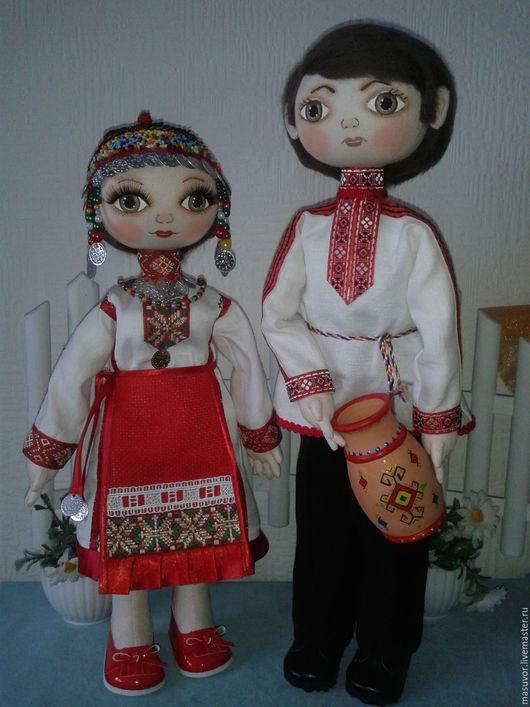 Народные куклы ручной работы. Ярмарка Мастеров - ручная работа. Купить кукла в Чувашском национальном костюме. Handmade. Авторская кукла