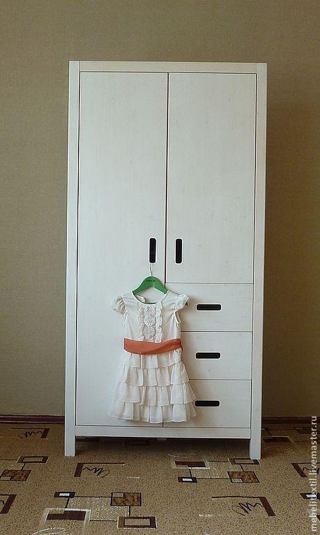 Детская ручной работы. Ярмарка Мастеров - ручная работа. Купить Шкаф для одежды. Handmade. Белый, мебель для детской