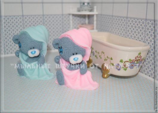 """Мыло ручной работы. Ярмарка Мастеров - ручная работа. Купить Мыло """"Мишка  в полотенце"""". Handmade. Мишка, мыло ручной работы"""