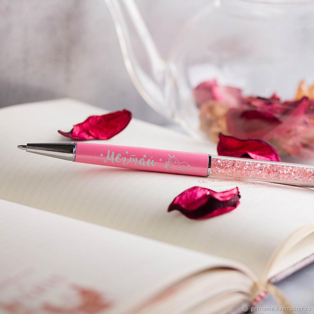 Ручка гравировка Подарок Ребенку единорог Подарок класс, Ручки, Москва,  Фото №1