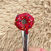 Ложки ручной работы. Ярмарка Мастеров - ручная работа Ложка с декором «Пончик». Handmade.