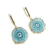 Украшения handmade. Livemaster - original item Mint large earrings