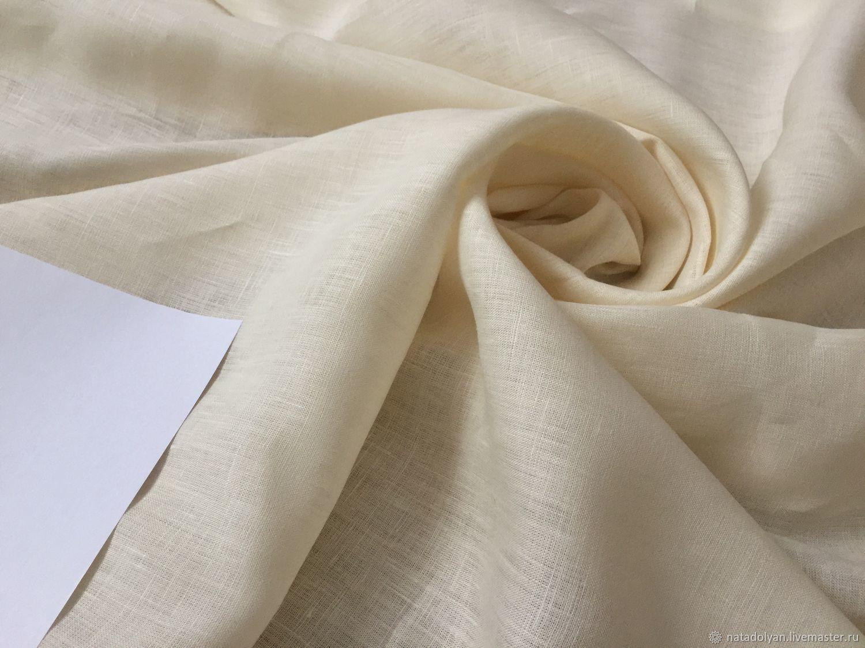 Linen 100% blouse-fortieth ' ivory', Fabric, Ivanovo,  Фото №1