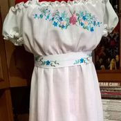 Одежда handmade. Livemaster - original item Sundress embroidered summer ЖС7-017. Handmade.