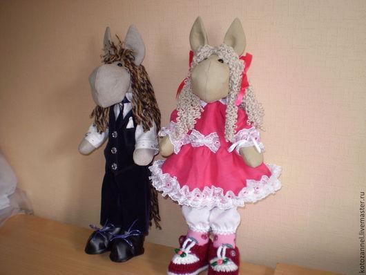 """Куклы Тильды ручной работы. Ярмарка Мастеров - ручная работа. Купить Мягкие игрушки """"Ослики"""" -девочка и мальчик. Handmade."""
