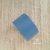 Украшения ручной работы. Ярмарка Мастеров - ручная работа Кожаный браслет. Синий с серым оттенком.. Handmade.
