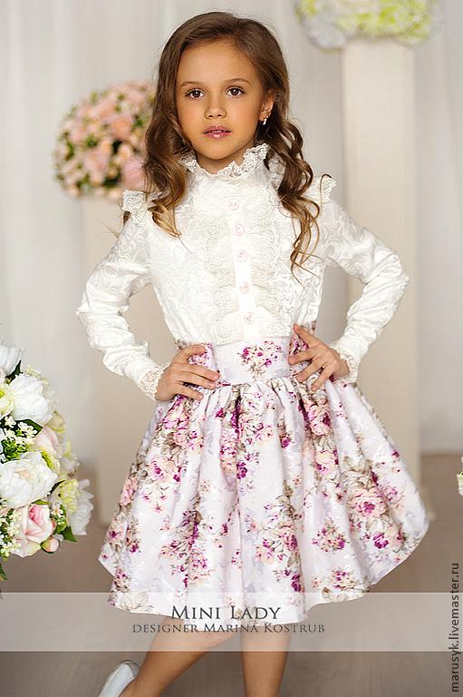 Одежда для девочек, ручной работы. Ярмарка Мастеров - ручная работа. Купить ПЛАТЬЕ александра-детское-1. Handmade. Белый