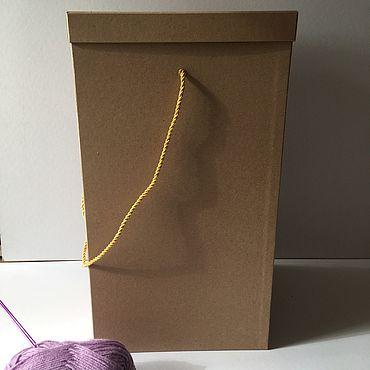 Материалы для творчества ручной работы. Ярмарка Мастеров - ручная работа Коробка для хранения спиц и пряжи. Handmade.