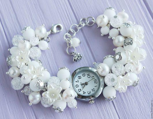 """Часы ручной работы. Ярмарка Мастеров - ручная работа. Купить Часы """"Белые лилии"""". Handmade. Белый, женские часы"""