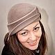 """Шляпка """"Волна"""", \r\nШляпка для осени,весны и начала зимы...\r\nМатериал: фетр-велюр чешской фирмы Тонак."""