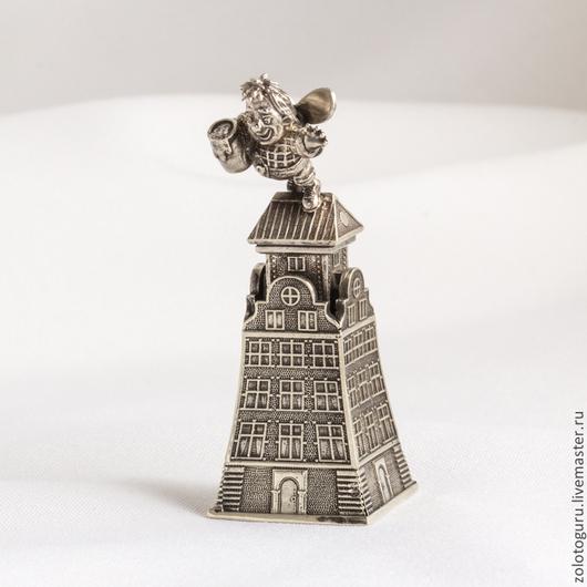 """Колокольчики ручной работы. Ярмарка Мастеров - ручная работа. Купить Колокольчик """"Карлсон"""" из бронзы. Handmade. Серебро 925, настольный"""